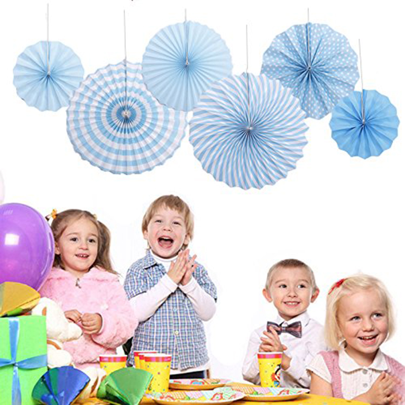 Tissue Paper Fan Flowers Party Fans Hanging Decorations Kids Birthday Party Baby Shower Wedding Decoration Decorative Crafts