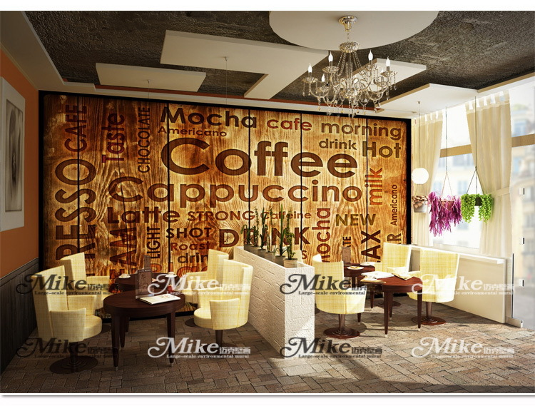Photo collection restaurant wallpapers for walls for Cafe mural wallpaper