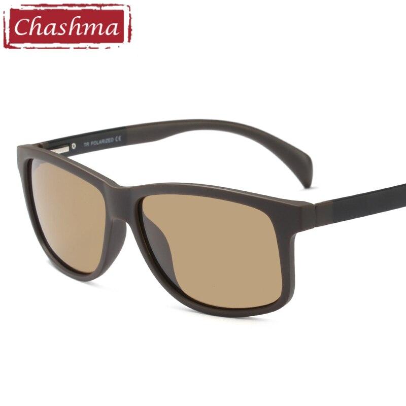 Chashma Gafas Sport myopia polaroid glasses men prescription occhiali da vista uomo con prescrizione Sunglasses Gold Mirror Lens