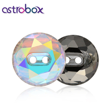 Astrobox 5 pces 12mm k9 tipo de vidro redondo strass botões cristal decoração da tela/vestuário costura fivela acessório