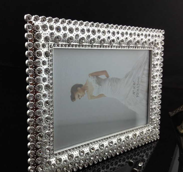 Luxury 4X6 Inch Sided Rectangle Zinc Metal Picture Frames Bulk ...
