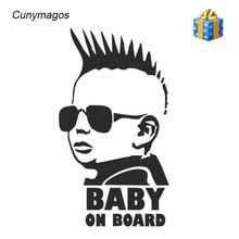 BABY ON BOARD Funny Car Sticker Personality Warning Decal for BMW Toyota Auto Vynyl Stickers Car Body Window Sticker 8.3*15CM(China)