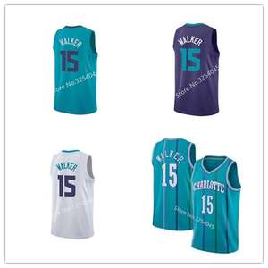 0c6068f26 2019 New  15 Kemba Walker  1 Tyrone Bogues Throwback Basketball Jersey  Embroidery Stitched US Size S-XXL