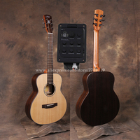 Professional 38 gsmini Acoustic Guitars With 20mm cotton bag,Solid Spruce Top/Rosewood Body guitarra eletrica With LCD Pickup,