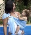 Moda playa bebé abrigo de la honda de secado rápido piscina ducha Carrier mochila infantil del bebé de engranajes alta calidad