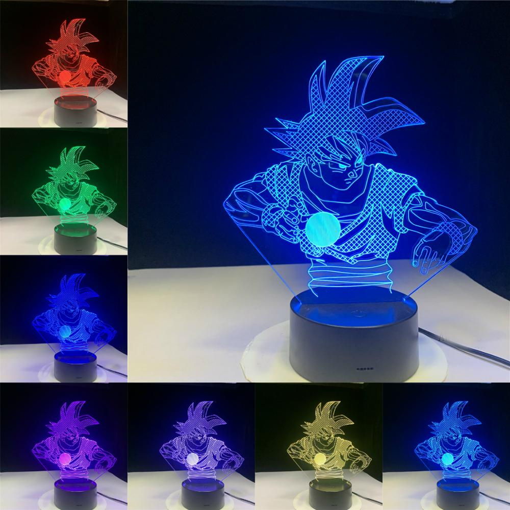 Turtle Qigong Saiyan <font><b>Dragon</b></font> <font><b>Ball</b></font> 3D Touch Remote Led <font><b>Lamp</b></font> Cartoon Night Light Kids Baby Fans Gifts Toys 7 Or 16 Colors Changing image