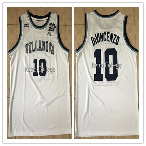 Villanova Wildcats #10 Donte DiVincenzo 2018 Final Four Champions Blue white College Basketball Jersey