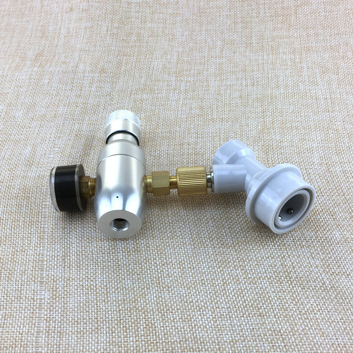 0-60 PSI Gas Disconnect For Home Beer Kegerator Kegging Regulator CO2 16g Charger Kit Homebrew Bar Beer Making Tool