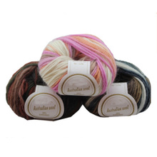 10 Pcs / Lot 100% Australian wool yarn iceland colorful knit thick Hand knitting for sweater knitwear fancy soft scarf