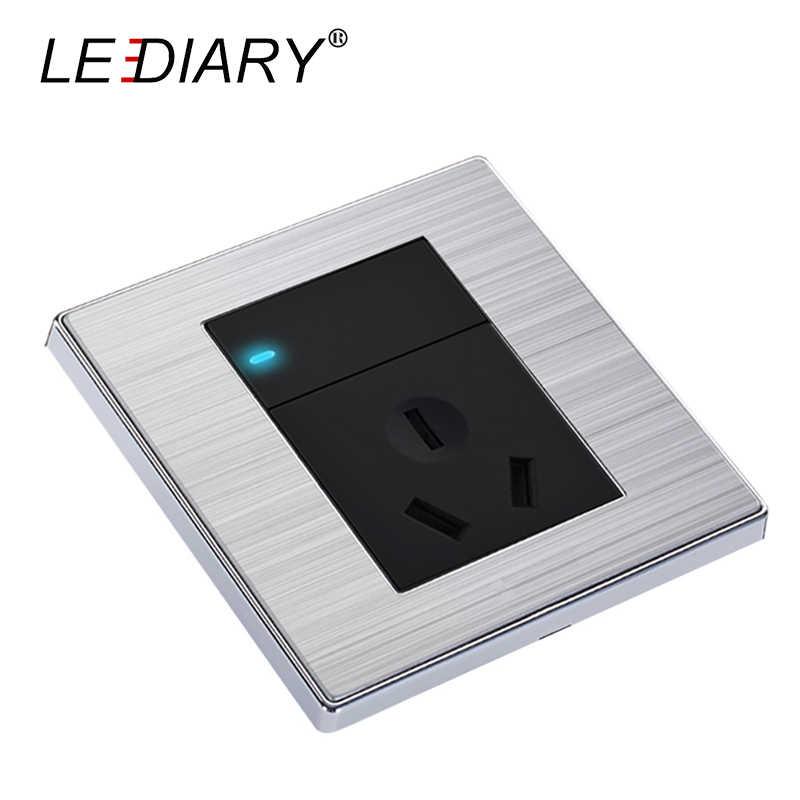 LEDIARY качество ЕС/США/Великобритания универсальная настенная розетка с выключателем 1-банда/2-банда 1-Way AC 110 V-250 V 3-Pin 3-Hole/6-Hole 13A для дома декабря