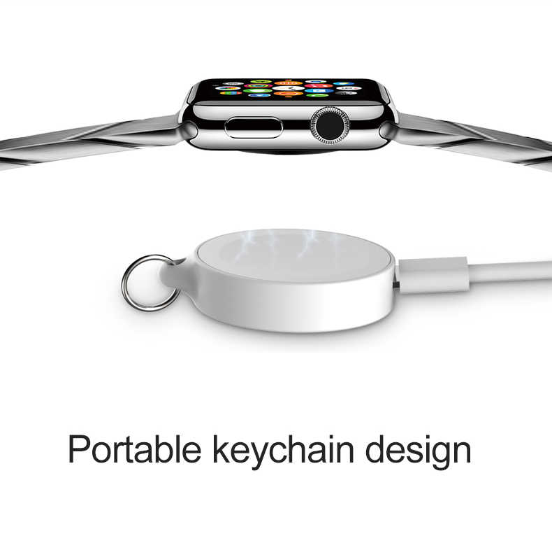 Portable Keychain Magnetic Wireless Charger for Apple Watch 1 2 3 4 Charging Pad Adapter Built In 950mah Power Bank for I Watch