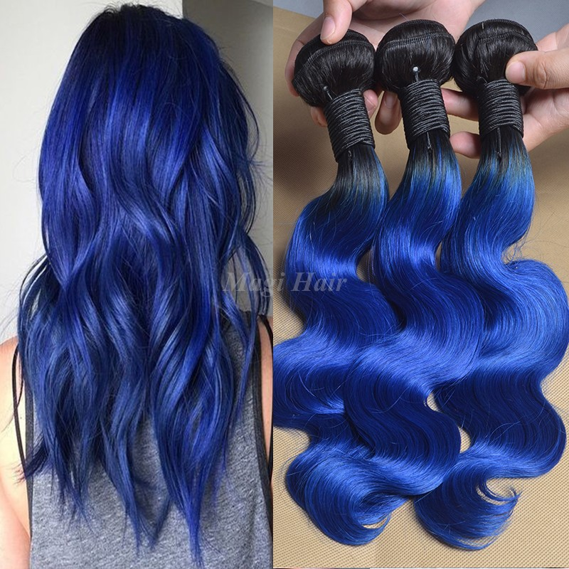 Ombre extensions blue