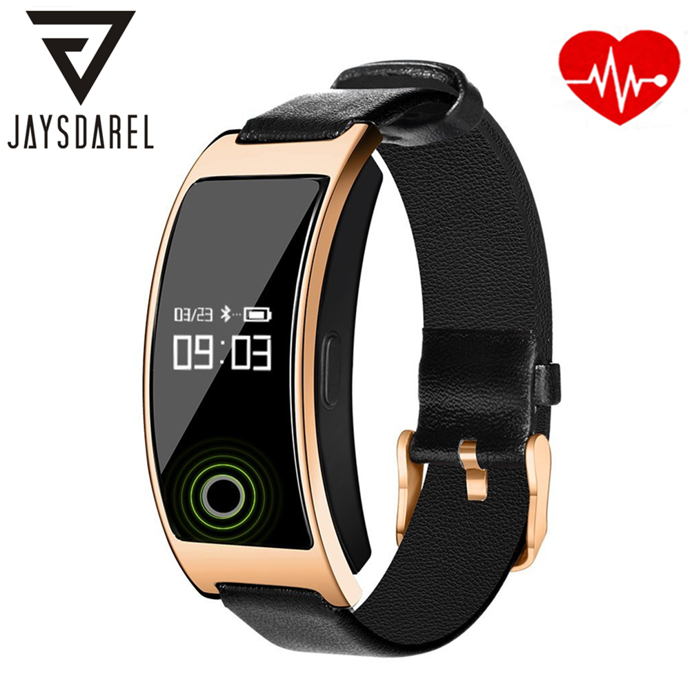JAYSDAREL CK11S Heart Rate Blood Pressure Monitor Smart Watch Blood Oxygeon Temperature Smart Watch Bracelet for Android iOS