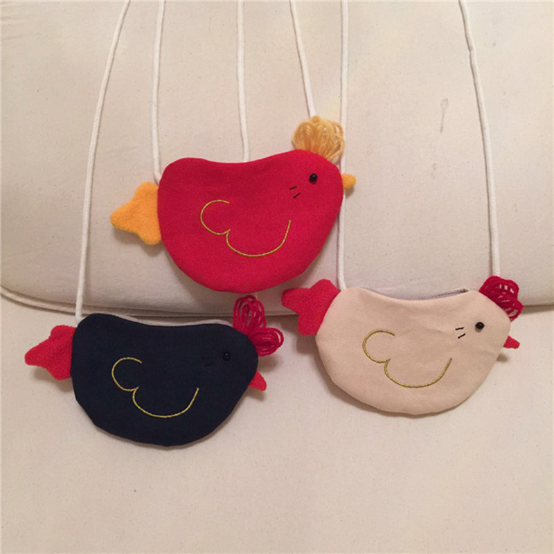 2017 Bird Cotton Fabric Casual Girls Messenger Bag Embroidery Baby Girls Fashion Coin Purse Cute Spring Decoration Bag for Kids