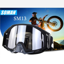 New Arrival 100% Original Soman Brand Motocross Glasses ATV Casque Motorcycle Goggles Racing Off Road Moto Bike Sunglasses SM13