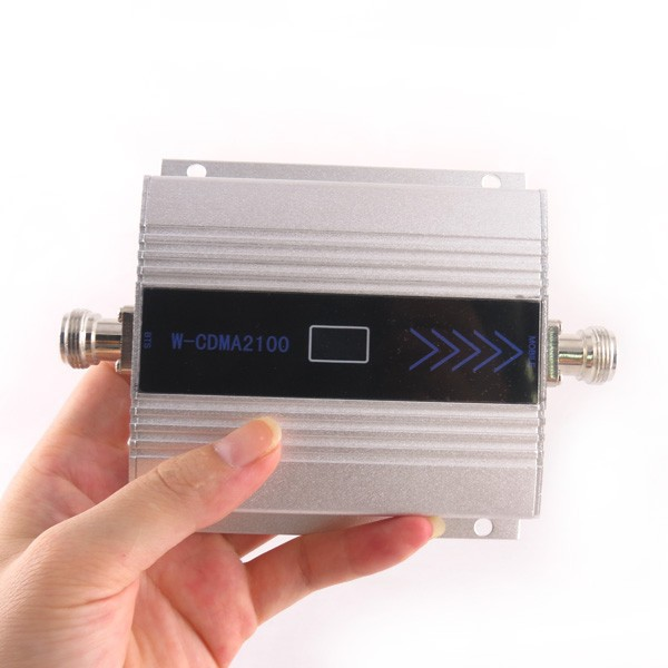 LCD Display !!! Mini W-CDMA Signal Booster 2100Mhz 3G Signal Repeater WCDMA UMTS Cell Phone Signal Amplifier With Power Supply