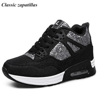 Classic Zapatillas Women Hidden Increasing Shoes Breathable Casual Women Shoes Spring Autumn Ankle Boots Heels Shoes