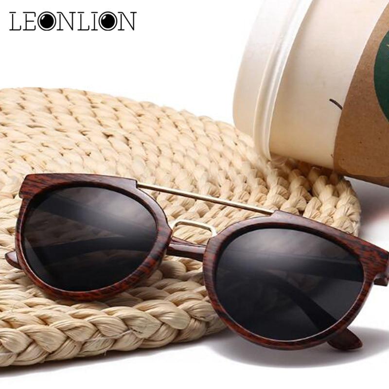 ddb7a7a94cd Detail Feedback Questions about LeonLion 2018 Vintage Imitation Wood  Sunglasses Men Brand Designer Classic Metal Sun Glasses Men Women Outdoor Oculos  De Sol ...