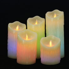 Remote Control Color Change LED  Wax Candles Flameless Breathing sparkling Candle Night Lights Wedding Party Velas Decoration led candles remote control electronic flameless breathing candle lights wedding party christmas decoration