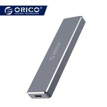 ORICO M.2 M clave SSD a USB 3,1 tipo C carcasa M.2 portátil Disco Duro SSD casos Mini Clip Push abierto carcasa caja de almacenamiento de 2 TB