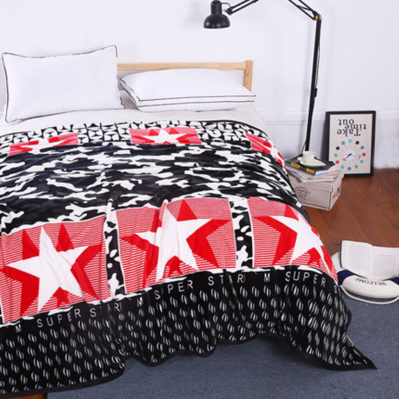 LOSICOE-17 Plaid Super Soft Warm Coral Fleece Blanket Thick Flannel Blankets Sheets Towels Sofa Bed Textile 150X200 CM