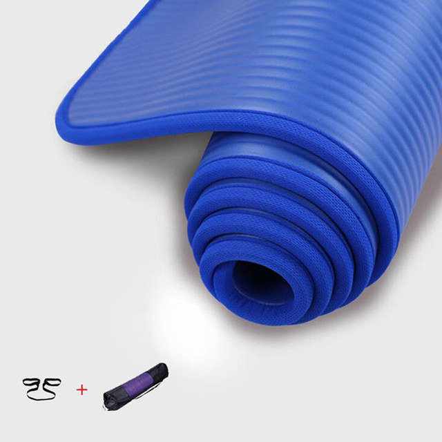 Non-slip Yoga Mat 10mm Thicken NBR Sports Yoga Mats Fitness Gym Colchonete Pilates Mat 183*61*10mm For Beginner Edge Covered New