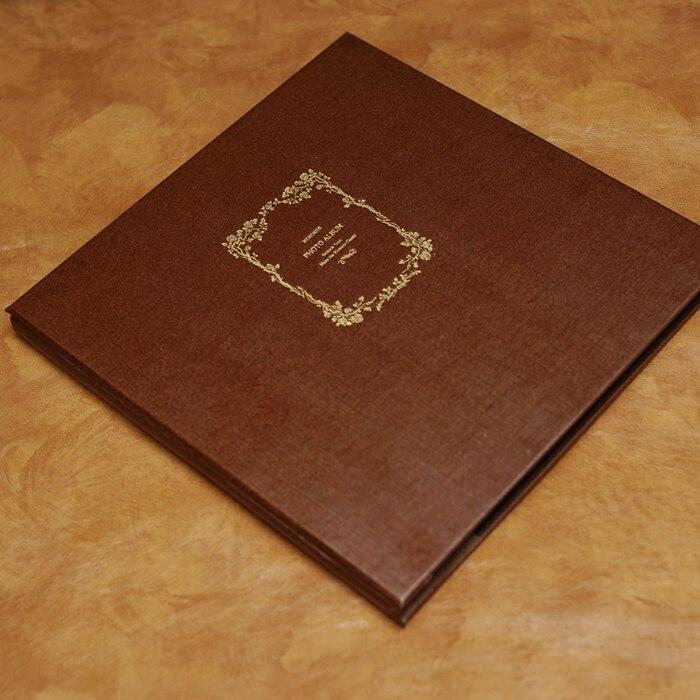 Couverture bronzante marron manuel bricolage auto-adhésif Album Photo rétro 10 pouces Album artisanat ensembles de papier pour Scrapbooking