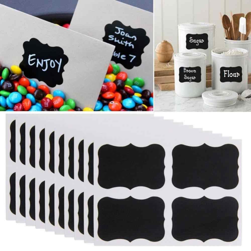 36 Uds Mini tiza negro Mason Jar etiquetas de botella adhesivos de pizarra Pot Mark calcomanía de nota Muraux decoraciones de pared sala de estar