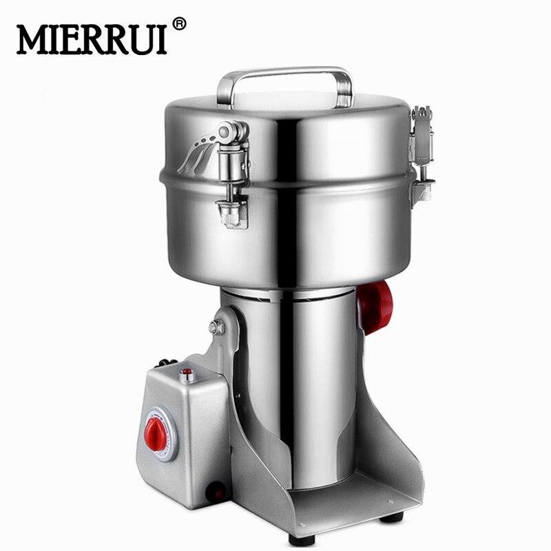 Aço inoxidável moinho triturador elétrico 2000g 110 V 220 V tipo Balanço de alimentos Triturador de alimentos Secos Sal e pimenta Mills moedores para as ervas