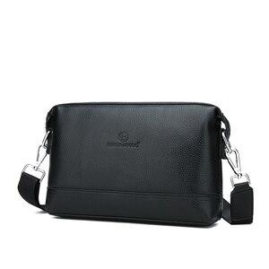 Image 2 - FEIDIKABOLO новые сумки через плечо из натуральной кожи мужская сумка мессенджер рекламная маленькая сумка через плечо деловая Мужская Сумка многофункциональная