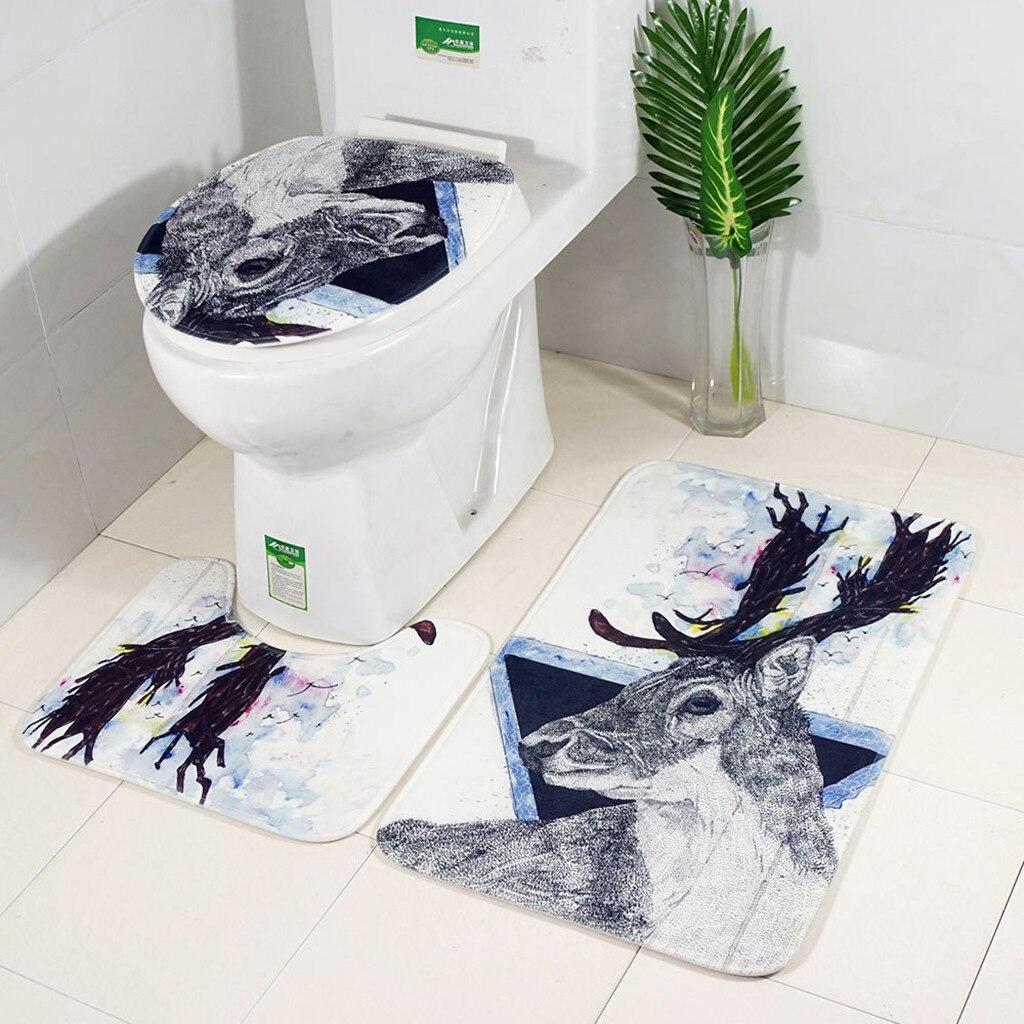 3pcs Non Slip Suction Grip Bath Mat Bathroom Kitchen ...