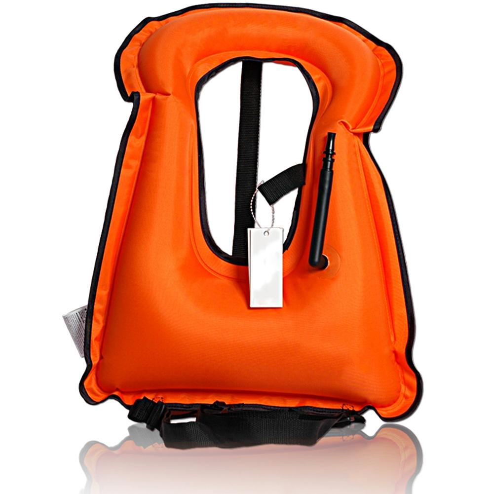Portable Life Vest : Lumiparty portable inflatable life vest bright coloured