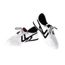 Taekwondo Shoes Shu Boxing Martial-Arts Chinese-Tai-Chi-Wu for Kids Sneaker White Size-26-44