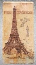1 pc Paris Eiffel tower France exposition plaques shop store Tin Plates Signs wall Decoration Metal Art Vintage Poster