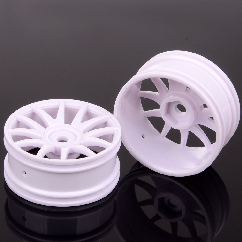 2pcs D: 38mm Hex:9MM <font><b>Wheel</b></font> Rim 82827 For HSP Racing 1/16 Scale <font><b>RC</b></font> Model Car Spare Parts image