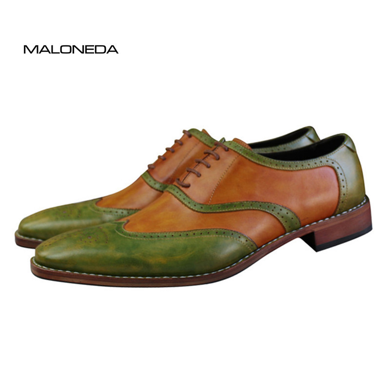 MALONEDA Brand New Goodyear Handmade 100% Full Genuine Leather Oxfords Shoes Customized Men Wedding ShoesMALONEDA Brand New Goodyear Handmade 100% Full Genuine Leather Oxfords Shoes Customized Men Wedding Shoes