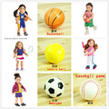 "Doll Accessories Sport Basketball,baseball game,soccer,tennis ball fit 18"" American girl doll girl  (only ball)"