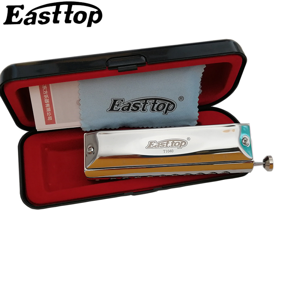Easttop Chromatic Harmonica 10 Holes Chromatic Harp Mouth Organ Instrumentos Key C ABS Comb  Musical Instruments  East Top T1040