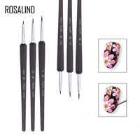 ROSALIND 3 teile/satz Nail art Rührstab Werkzeuge Professionelle Punktierung Malerei Zeichnung UV Gel Liner Nagel Einsatz Salon oder Zu Hause verwenden Gel