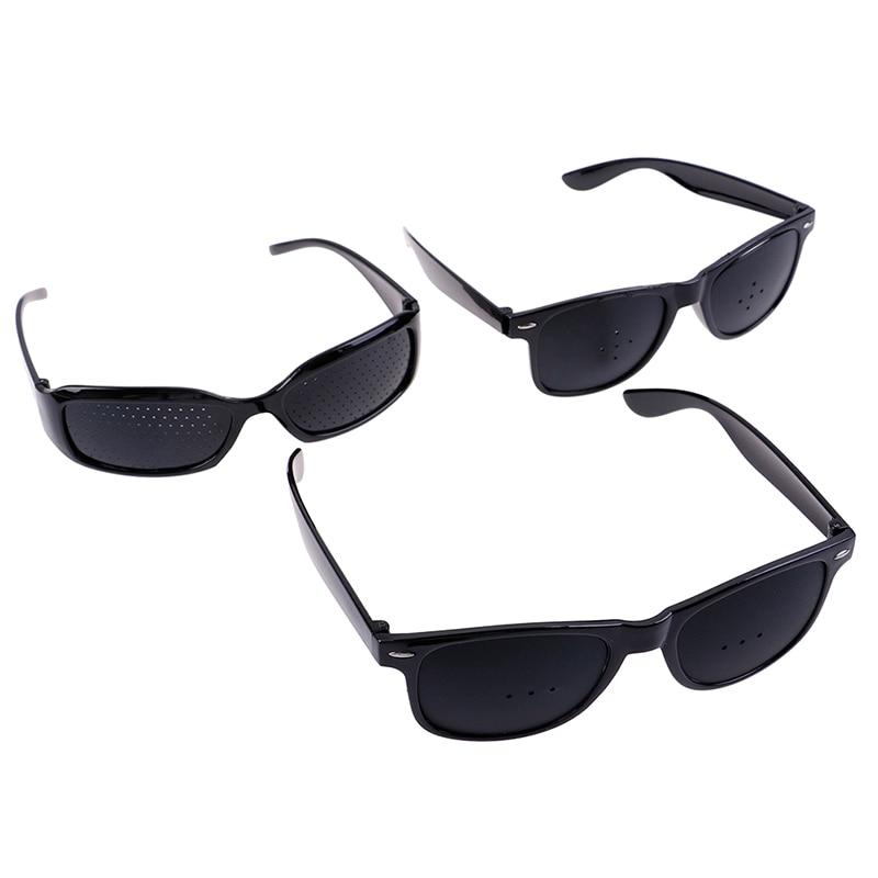 Unisex Vision Care Pin Hole Eyeglasses Hole Glasses Eye Exercise Eyesight Improve Plastic Natural Healing Cheap 3Styles 3