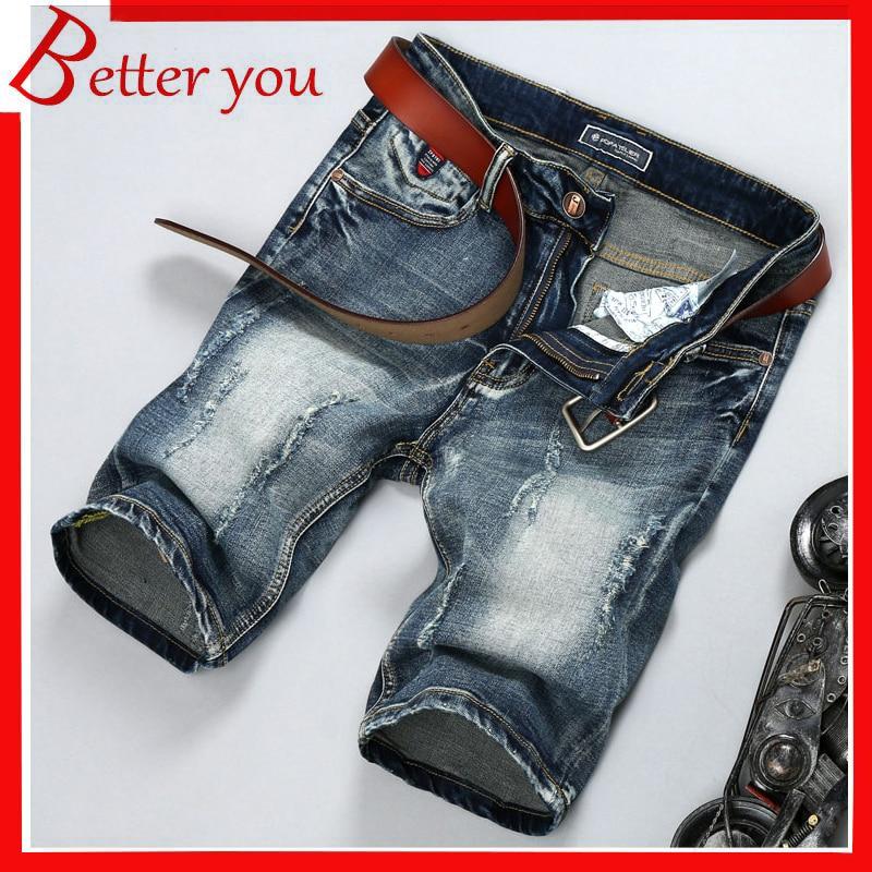 La Bar 2019 Summer Explosion Cropped Pants Jeans Casual Vintage Hole Jeans Nostalgic Washed Cowboy