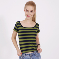 Fashion 100 Knitted Cotton Women Summer O Neck T Shirt Female Short Sleeve Top Tees Camouflage