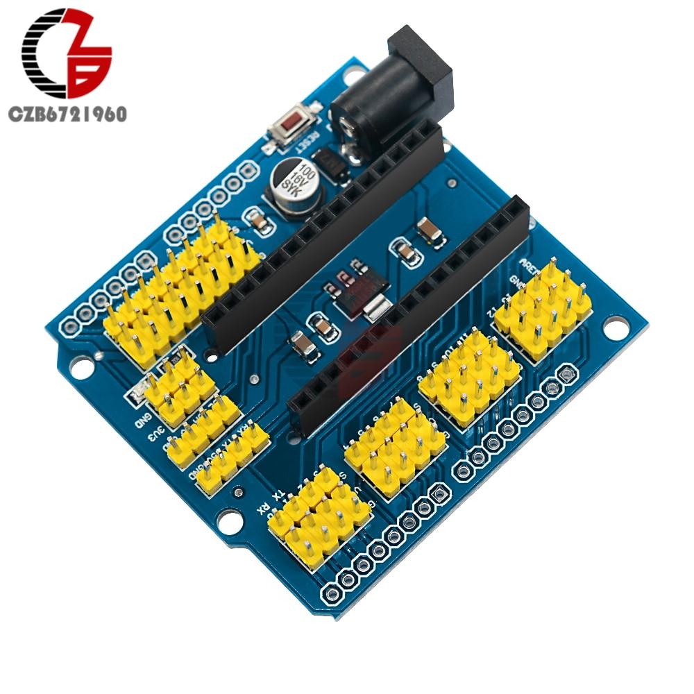 NANO I/O Expansion Sensor Module Shield Board I2C PWM Servo Analog AREF for  Arduino UNO R3 Nano V3 0 3 3V Output ONE