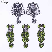 Punk Snake Patch Animal Embroidered Patches For Clothing Biker Motorcycle Jacket Iron On Clothes Decoration F