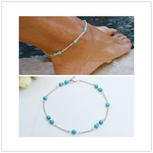 New fashion jewelry little bead chain link anklets nice gift for women girl AN25