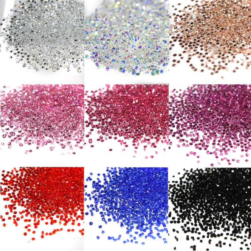 1 2mm 1440pcs Nail Art Pixie Decoration Glitter Crystal Glass Caviar Beads Tiny 3D Micro Mermaid Nails Art Hot Nail Decorations in Rhinestones from Home Garden