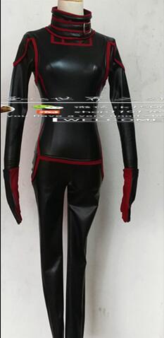 2016 gachette mondiale, Kuga Yuma, noir Faux cuir Jersey uniforme vêtements Cosplay Costume Halloween