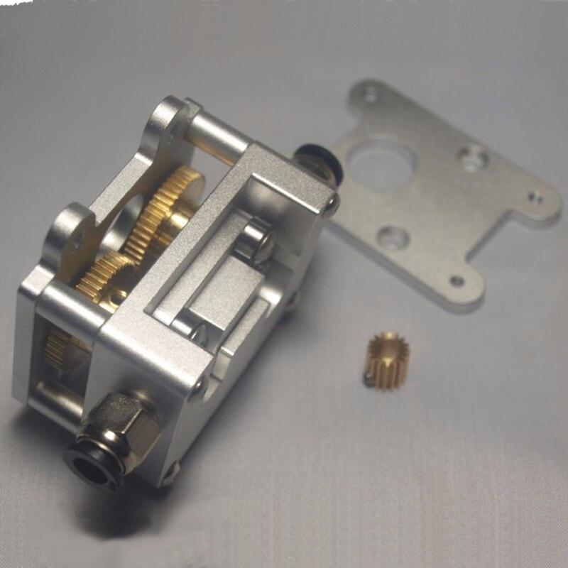 3D imprimante accessoires Ultimaker2 + all metal double roue décélération extrudeuse 1.75mm/3mm filament chargeur