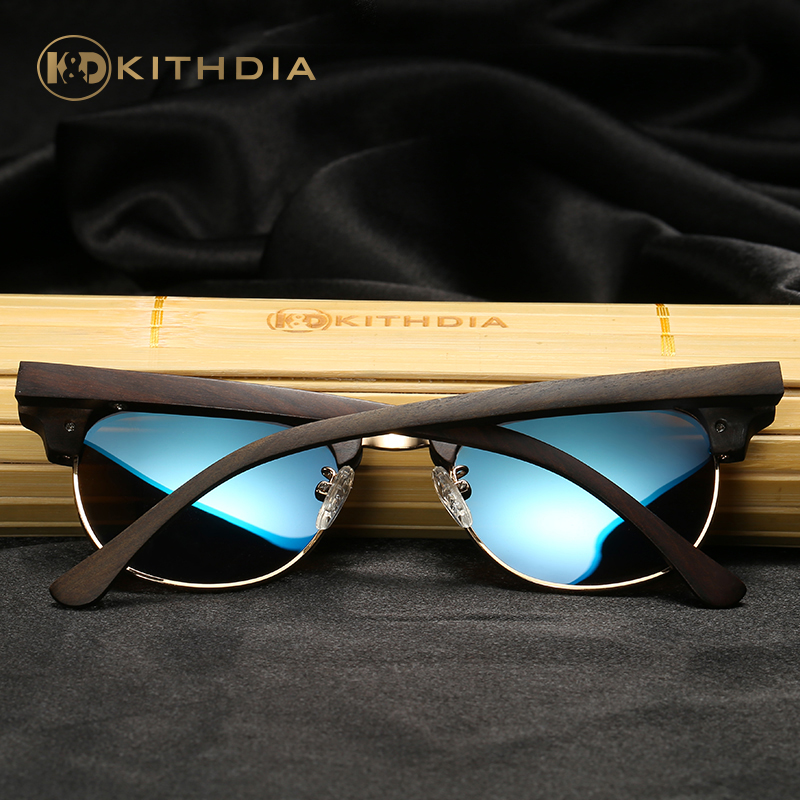 Kithdia Brand Polarized Ebony Wooden Sunglasses Bamboo Sunglasses and Support DropShipping Provide Pictures KD040 in Men 39 s Sunglasses from Apparel Accessories