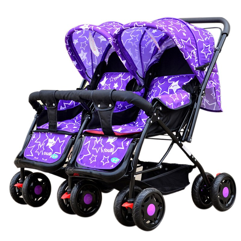 New Arrival Twin Stroller Pushchair Infant Boys And Girls